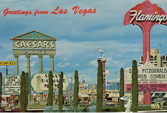 Greetings from Las Vegas 1950s Caesars Palace