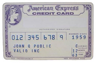 1960s American Express Card