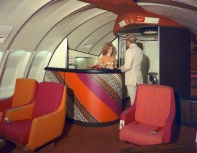 1970s Airplane Lounge & Mahjong