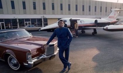 James Brown with a Jet