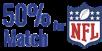 50% Deposit Match Offered for NFL