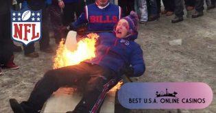 Buffalo Bills Fan on Fire