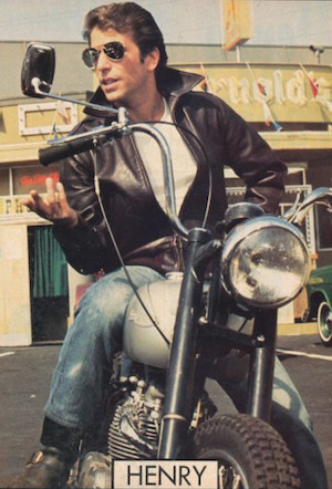 Fonzie on Motorbike