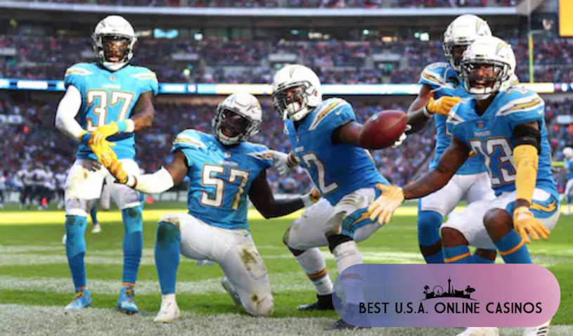 Los Angeles Chargers Players Celebrating in London