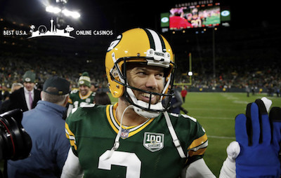 Mason Crosby Smiles After Win