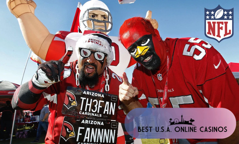 Arizona Cardinals Fans Face Paint