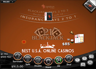 Blackjack Table Ignition Casino