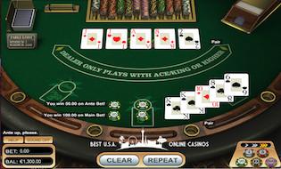 Caribbean Poker Table GTbets