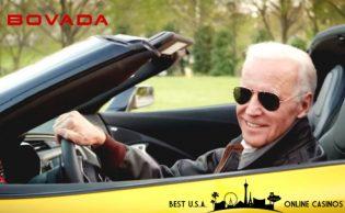 Joe Biden in Yellow Sports Car