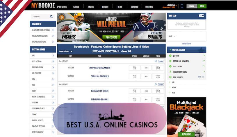 MyBookie USA Sportsbook Home Page