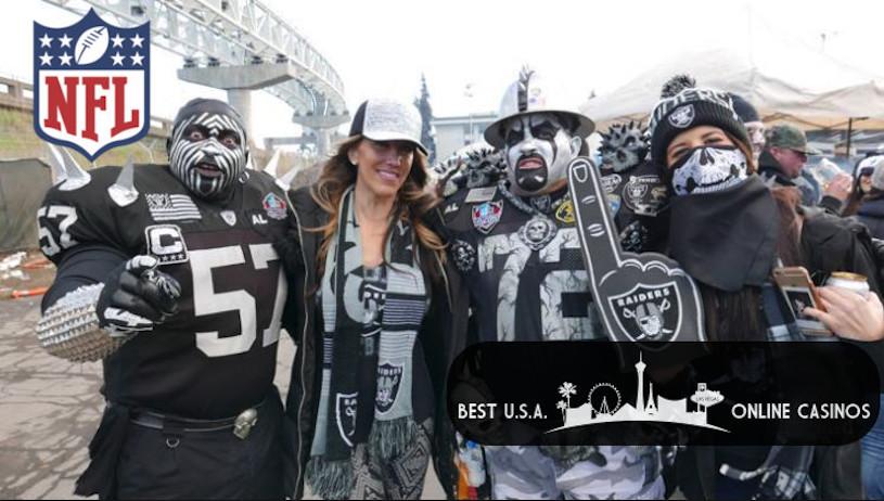 Oakland Raider Couples Tailgating
