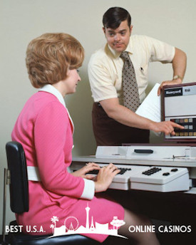 Office Workers 1970s Computer