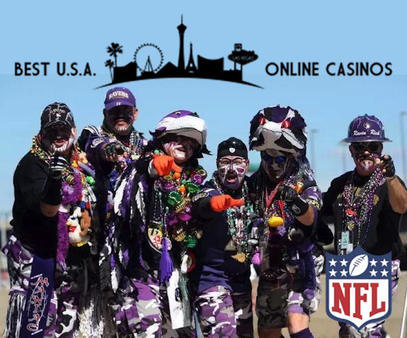 Baltimore Ravens Fans Posing