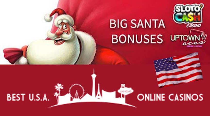 Big Santa Bonuses Sloto'Cash and Uptown Aces