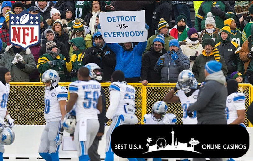 Detroit Fans in Green Bay