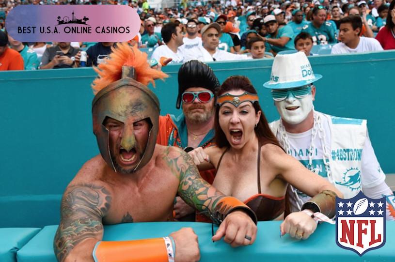 Miami Dolphins Fans Celebrate