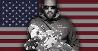 USA Poker Chip Throw