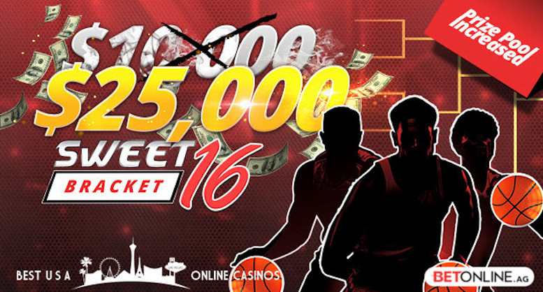 $25,000 Sweet 16 Bracket Contest 2019 at BetOnline