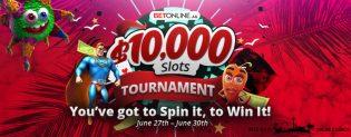 BetOnline Summer Slots Tournament for June 2019