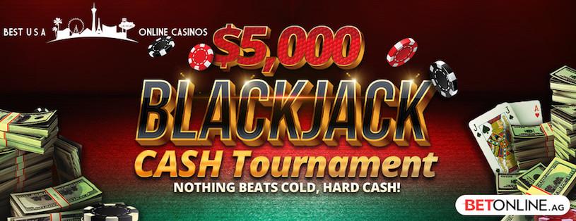 $5,000 Blackjack Cash Tournament at BetOnline for July 2019