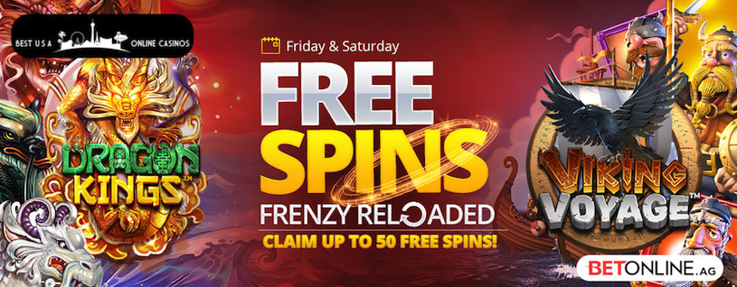 Free Spins Frenzy Reloaded for July at BetOnline Casino