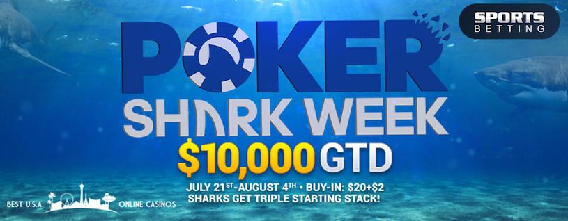 Poker Shark Week 2019 at Top USA Online Casinos
