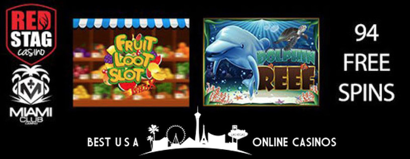 94 Free Spins at Red Stag and Miami Club