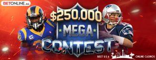 BetOnline $250,000 Mega Pickem Contest for NFL 2019