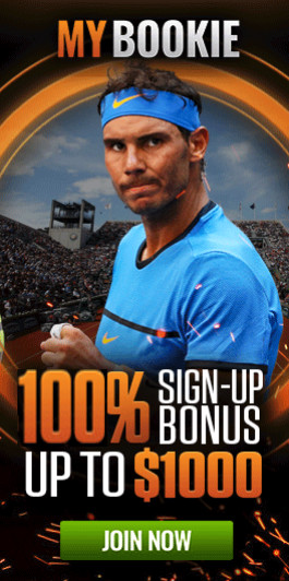 MyBookie 100% Sign Up Bonus up to $1,000 for Tennis Betting