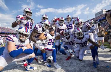 Buffalo Bills Defense Celebration