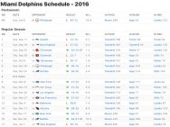 Miami Dolphins Results 2016