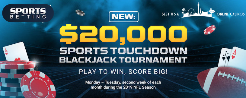 SportsBetting.ag Touchdown Blackjack Tournament for the 2019 NFL Season