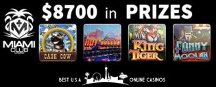 USA Online Slots Tournaments at Miami Club Casino for October 2019
