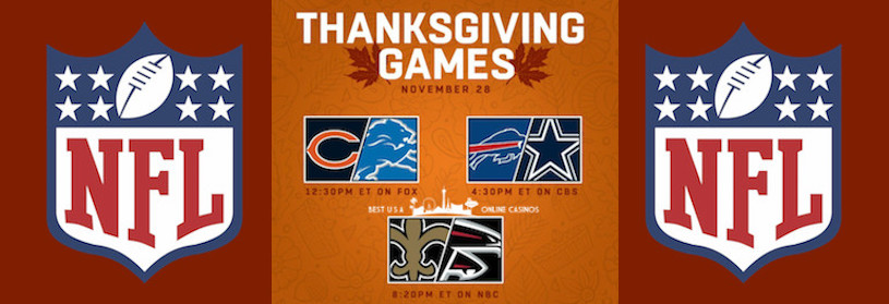 Bet Thanksgiving 2019 NFL Games