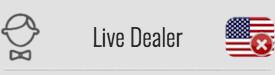 Live Casino: NO
