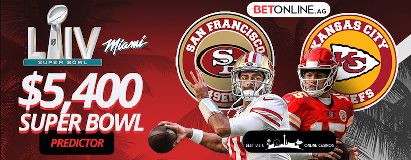 BetOnline $5,400 Super Bowl LIV Score Predictor