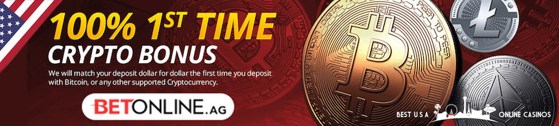 Current Cryptocurrency Deposit Bonus at BetOnline Casino