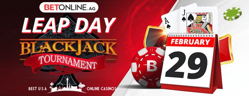 Leap Day Blackjack Tournament at BetOnline Casino