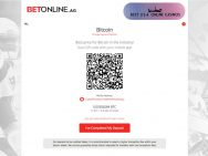 Step 3 BetOnline Bitcoin Deposit QR Address Code