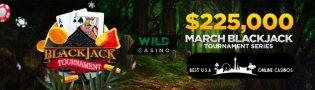 Wild Casino March Online Blackjack Tournament Series