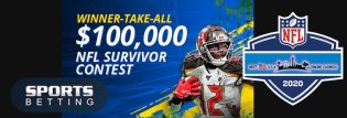$100,000 Guaranteed NFL 2020 Survivor Pool at SportsBetting.ag