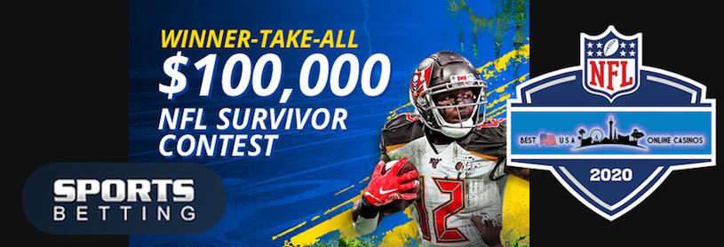 $100,000 Guaranteed NFL 2020 Survivor Pool at SportsBetting.ag