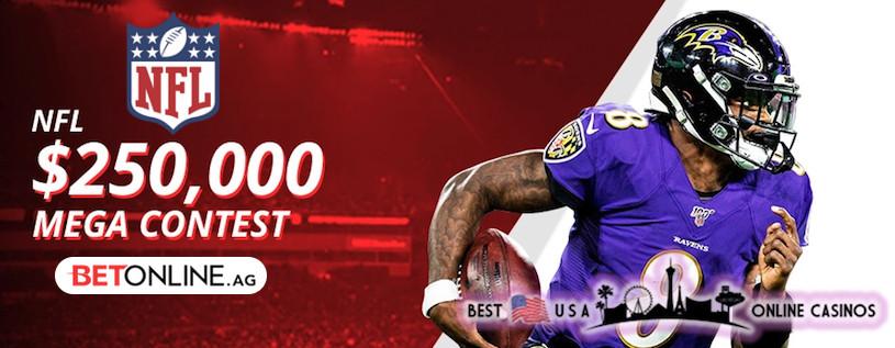 $250,000 NFL Mega Contest 2020 at BetOnline Sportsbook