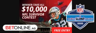 Free NFL 2020 Survivor Pool at BetOnline Giving $10,000