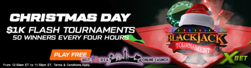 Free Christmas Day Blackjack Tournaments Awarding Thousands in Real Money