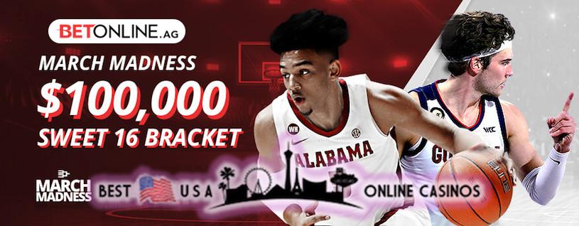 March Madness Sweet 16 Bracket Guaranteeing $100,000
