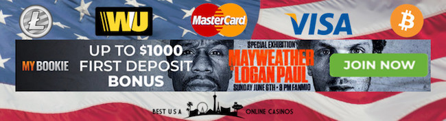MyBookie Sportsbook Mayweather vs. Logan Deposit Bonus