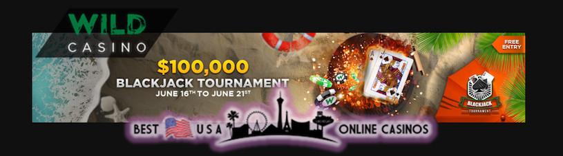 USA Wild Casino Hosting Huge $100,000 Online Blackjack Tournament