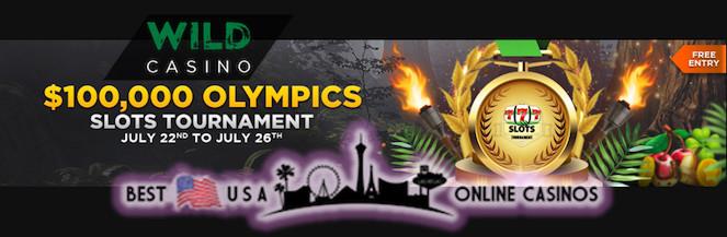 $100,000 Olympics Slots Tournament at Wild.ag