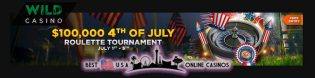 Free Independence Day Roulette Tournament Awarding $100,000 at Wild USA Casino
